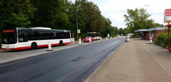 Busbahnhof-Provisorium am Oberhof