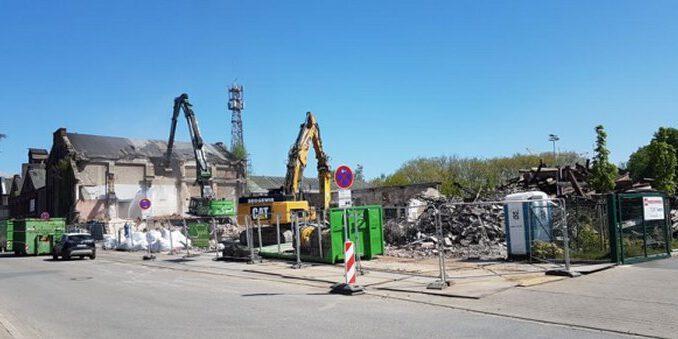 Alte Gebäude an der Möllerschächte werden abgerissen