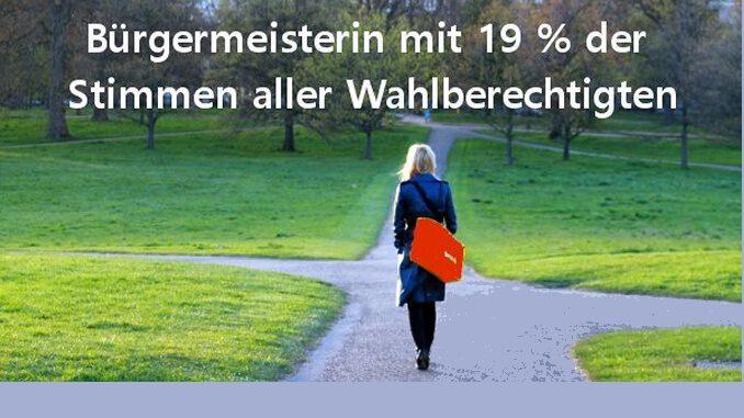 Bürgermeisterin mit 19 % der Stimmen