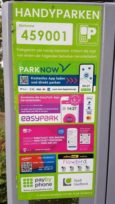 Handyparken in Gladbeck - wie geht das!