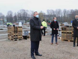 Bau des Impfzentrums im Kreis Recklinghausen gestartet