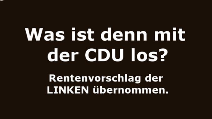 Renten und die CDU - Knaller im Bundestag