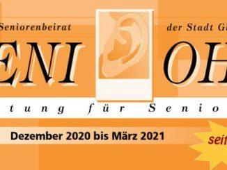 """SeniOhr: Die neue Ausgabe der """"SeniOhr"""", die Zeitschrift des Seniorenbeirates Gladbeck, ist soeben erschienen. Lesestoff für SeniorInnen."""