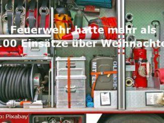 Gladbeck - Feuerwehr über 100 Einsätze zu Weihnachten
