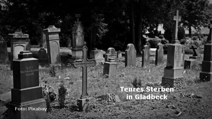 Hohe Friedhofsgebühren in Gladbeck Friedhof Bestattungskosten Sargbestattung Urnenbestattung