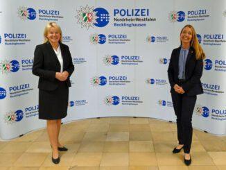 Bürgermeisterin Bettina Weist zu Besuch bei Polizeipräsidentin Friederike Zurhausen