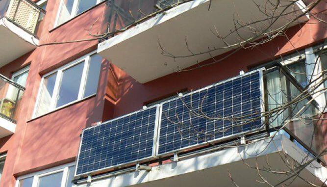 Stadt und RVR fördern Solargeräte. Stecker-Solarmodul