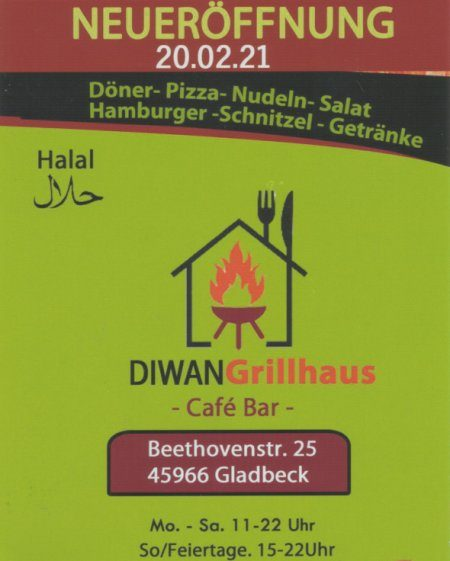 DIWAN - Grillhaus - Gladbeck-Zweckel - Beethovenstraße 25