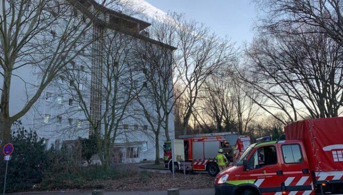 Hochhausbrand am Busfortshof