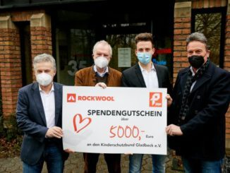 Rockwool und Pieper spenden 5.000 Euro