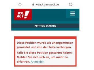 Windrad: Campact blockiert Petition