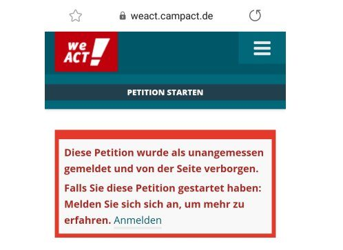 Windrad: Campact blockiert Petition