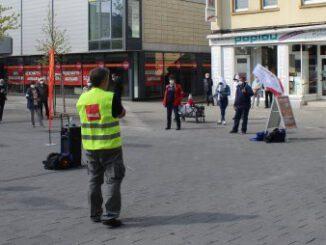 Maikundgebung der MLPD auf dem Gladbecker Marktplatz