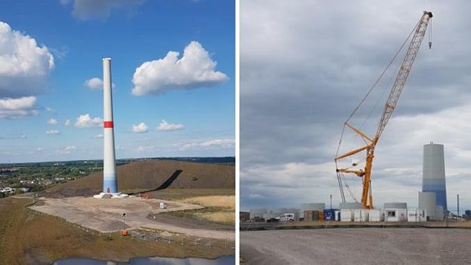 Gladbeck: Windradbaustelle