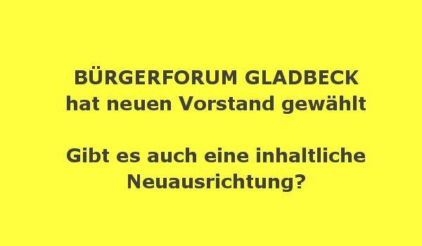 Gladbecker Bürgerforum mit neuem Vorstand