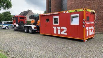 Container der Feuerwehr