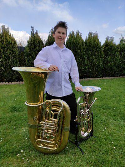 Linus Ansgar Pfister: 1. Preis auf der Tuba