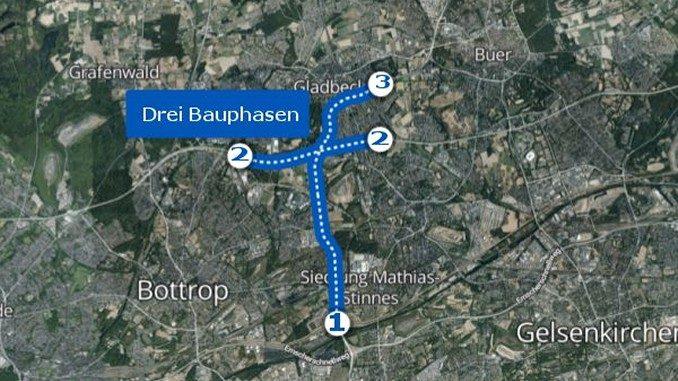 Gladbeck: Der Tunnel, das Kreuz und der Zubringer