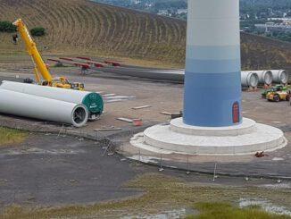 Windrad-Mottbruchhalde nähert sich der Fertigstellung
