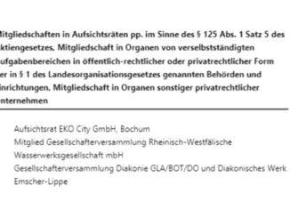 Volker Musiol - weitere Ämter preisgegeben - jetzt komplett?