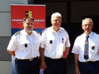 Feuerwehr-Ehrenkreuz für den Gladbecker Peter Frank