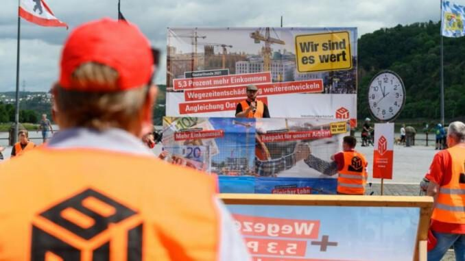 Aktionstag der IG BAU an Zeche Ewald am 7. August