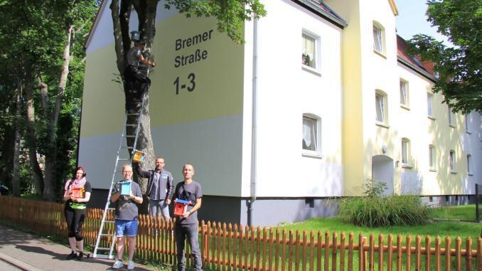 Vonovia: Nistkästen in Gladbeck aufgehängt