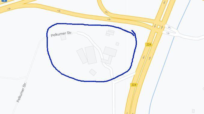 Lageplan des HOf SChulte-Pelkum am Autobahnkreuz