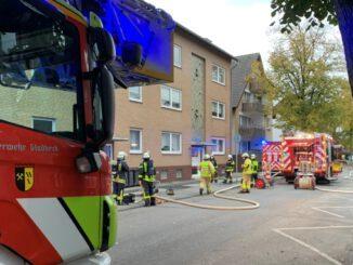 Kellerbrand in Gladbeck-Zweckel - Feuerwehr rückte aus
